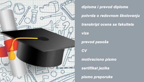 Prevod dokumenata za nastavak školovanja u inostranstvu
